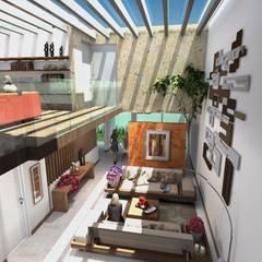 Estancia Principal: Salas de estilo  por Milla Arquitectos S.A. de C.V.