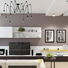 2-к квартира для молодой семьи: Гостиная в . Автор – BRO Design Studio