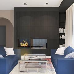 гостиная: Гостиная в . Автор – Архитектурная мастерская 'SOWA', Минимализм