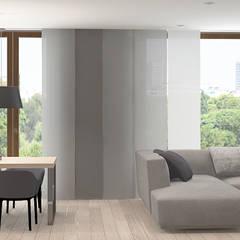 W odcieniach szarości: styl , w kategorii Okna zaprojektowany przez FAMM DESIGN