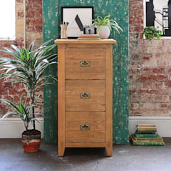 Oakland 3 Drawer Filing Cabinet:  Study/office by The Cotswold Company