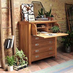 Light Oak Hidden Bureau:  Study/office by The Cotswold Company