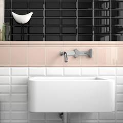 Azulejo Biselado 7,5x15: Baños de estilo  de Petit Ceramic SL