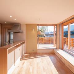 اتاق غذاخوری توسطアグラ設計室一級建築士事務所 agra design room, اکلکتیک (ادغامی) چوب Wood effect