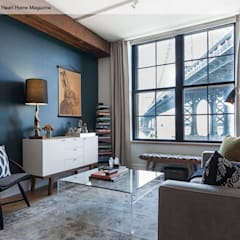 A Rented NY Apartment with a Sense of History: industrial Living room by Heart Home magazine