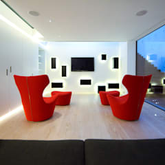 Ruang Multimedia oleh Belsize Architects, Modern