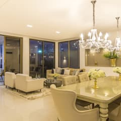 Residência A & F:  Dining room by Lyssandro Silveira