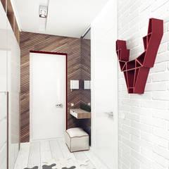 Pasillos y recibidores de estilo  por IK-architects