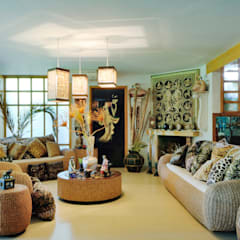 sala de estar: Salas de estilo asiático por Excelencia en Diseño