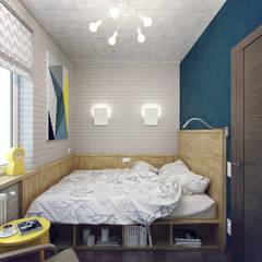 Студия дизайна Марии Губиной 의  작은 침실