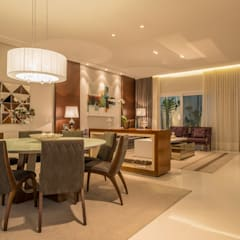 Casa Swiss: Salas de jantar  por Juliana Stefanelli Arquitetura e Design