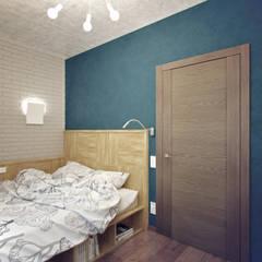 Kleine slaapkamer door Студия дизайна Марии Губиной