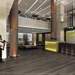 Proyecto de Diseño Interior - Lobby Hotel: Hoteles de estilo  por Estudio JP