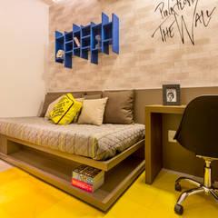 Apartamento DOM: Quartos  por Flávio Monteiro Arquitetos Associados,Moderno MDF