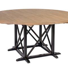 Стол обеденный Country Cross Dining Table T010:  в . Автор – LeHome Interiors, Кантри Дерево Эффект древесины