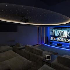 Media room by Principioattivo Architecture Group Srl, Modern