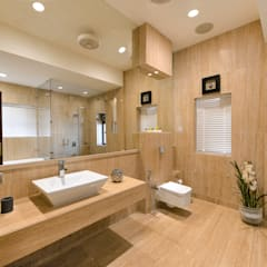 Bathroom:  Bathroom by ARK Reza Kabul Architects Pvt. Ltd.