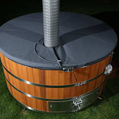 Stainless steel hot tub:  Spa by Cedar Hot Tubs UK
