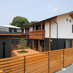 Asian style house by shu建築設計事務所 Asian Wood Wood effect