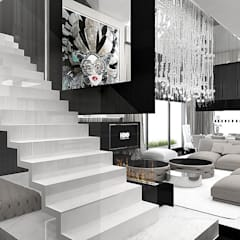 Couloir et hall d'entrée de style  par ARTDESIGN architektura wnętrz,