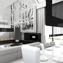 Salle à manger de style  par ARTDESIGN architektura wnętrz,