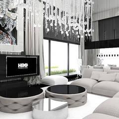 Salon de style  par ARTDESIGN architektura wnętrz,