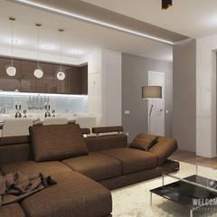 Salon de style  par Мастерская дизайна Welcome Studio, Minimaliste