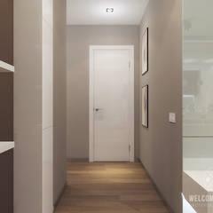 Couloir et hall d'entrée de style  par Мастерская дизайна Welcome Studio, Minimaliste