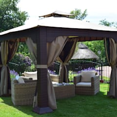 Weaves Blenheim Sofa Set featured with our Regent gazebo:  Garden by World Of Weave UK Ltd