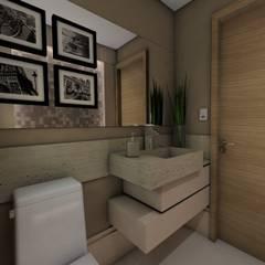 Projeto F & M: Banheiros  por Ricardo Cavichioni Arquitetura,Moderno