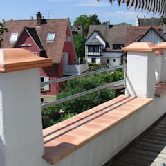 Tonfensterbank als Mauerabdeckung:  Fenster von Rimini Baustoffe GmbH