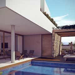 Piscinas de estilo  por Martins Lucena Arquitetos, Tropical