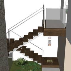 Casa ED Corredores, halls e escadas tropicais por Martins Lucena Arquitetos Tropical