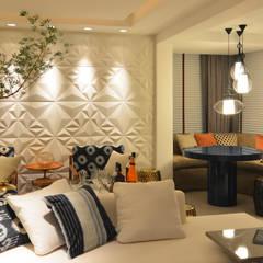 Salas / recibidores de estilo  por ANNA MAYA ARQUITETURA E ARTE, Moderno