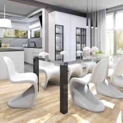 Jadalnia : styl , w kategorii Jadalnia zaprojektowany przez Architekt wnętrz Klaudia Pniak