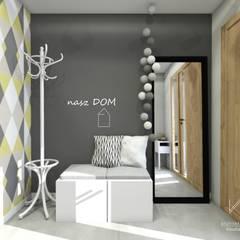 Wiatrołap : styl , w kategorii Korytarz, przedpokój zaprojektowany przez Architekt wnętrz Klaudia Pniak