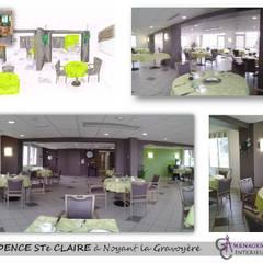La salle de repas des résidents: Cliniques de style  par GC Aménagement Intérieur