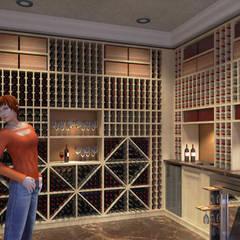 Cantina per vini - Wine cellar: Cantina in stile  di Planet G