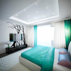 """Tree rooms apartment """"Zatishie"""" in Elektrostal, Moscow Region, Russia.:  Schlafzimmer von Insight Vision GmbH"""