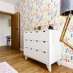 mieszkanie prywatne 3 pokoje - Garnizon - Gdańsk: styl , w kategorii Pokój dziecięcy zaprojektowany przez Anna Maria Sokołowska Architektura Wnętrz