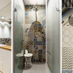mieszkanie prywatne 3 pokoje - Garnizon - Gdańsk: styl , w kategorii Łazienka zaprojektowany przez Anna Maria Sokołowska Architektura Wnętrz