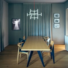 Dining room by andrea rubini architetto, Scandinavian Wood Wood effect