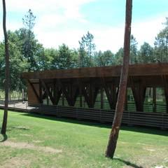 Salão, Alto Rabagão: Locais de eventos  por NORMA | Nova Arquitectura em Madeira (New Architecture in Wood)