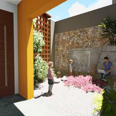 Casa AM: Jardines de estilo  por Módulo 3 arquitectura