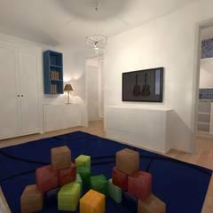 AMENAGEMENT INTERIEUR # 010 - SALLE DE JEUX Version # 001: Salle multimédia de style  par HOME LAB'