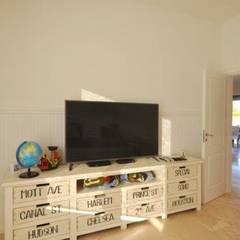 playroom: Salas multimedia de estilo  por Parrado Arquitectura