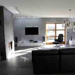 Płyty betonowe VHCT: styl , w kategorii Ściany zaprojektowany przez DecoMania.pl,