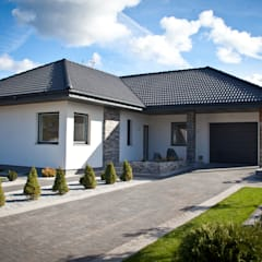 NEPTUN 4 – PARTEROWY NIE ZNACZY NUDNY: styl , w kategorii Domy zaprojektowany przez Biuro Projektów MTM Styl - domywstylu.pl,Nowoczesny