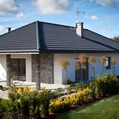 NEPTUN 4 – PARTEROWY NIE ZNACZY NUDNY: styl , w kategorii Domy zaprojektowany przez Biuro Projektów MTM Styl - domywstylu.pl