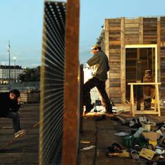 Villa Déchets à Nantes -Frederic Tabary-: Garage / Hangar de style  par Tabary Le Lay
